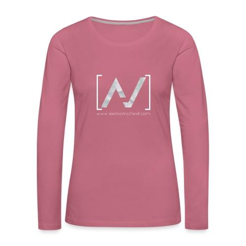 logoalpha blanc - T-shirt manches longues Premium Femme