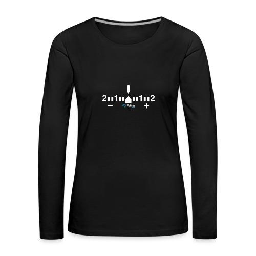 Exposímetro Fotografía - Camiseta de manga larga premium mujer