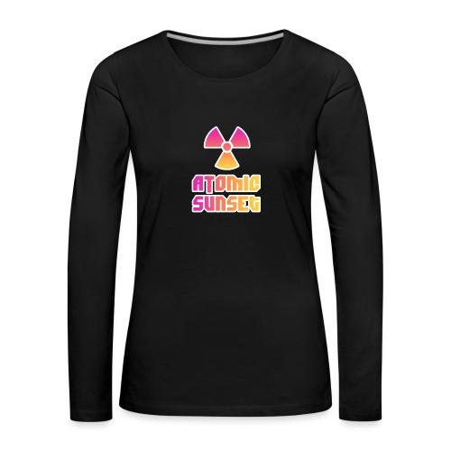 ATOMIC SUNSET - T-shirt manches longues Premium Femme