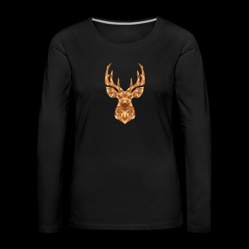 Deer-ish - Koszulka damska Premium z długim rękawem