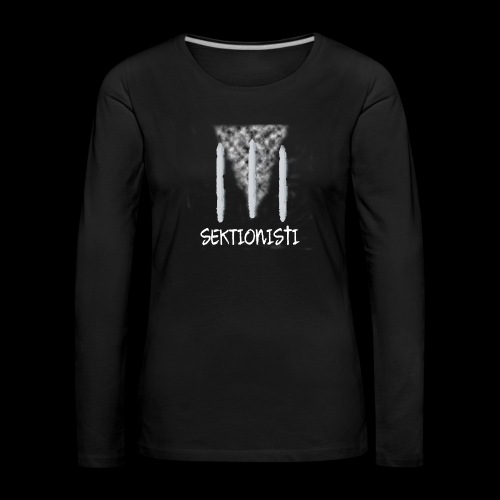 sektionisti 1 - Naisten premium pitkähihainen t-paita