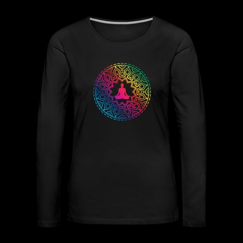 Mindfulness - Meditation design - Koszulka damska Premium z długim rękawem