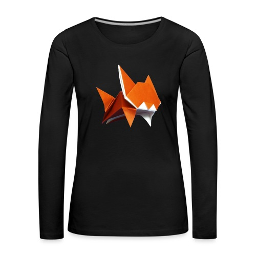 Jumping Cat Origami - Cat - Gato - Katze - Gatto - Women's Premium Longsleeve Shirt