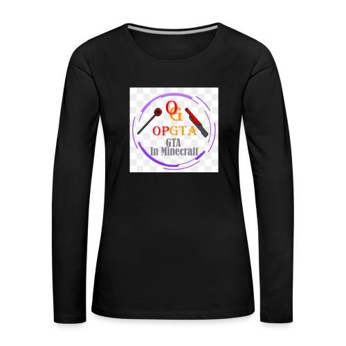 opgta logo - Naisten premium pitkähihainen t-paita