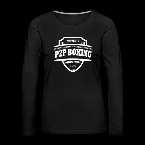 P2P Boxing White Logo - Women's Premium Longsleeve Shirt