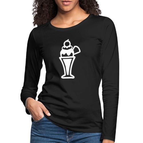 Eis und Eiscreme Symbol - Frauen Premium Langarmshirt