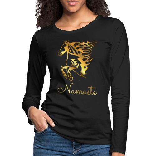 Namaste Horse On Fire - Frauen Premium Langarmshirt