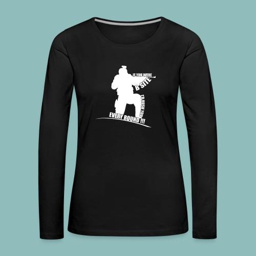 I'd rush you! White Version - Frauen Premium Langarmshirt