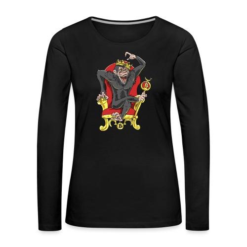 Bitcoin Monkey King - Beta Edition - Frauen Premium Langarmshirt