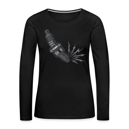 Fehlzünder Kontrast-Pullover - Frauen Premium Langarmshirt