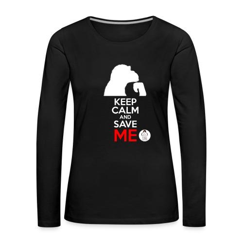 design_keep calm_blanc.png - T-shirt manches longues Premium Femme