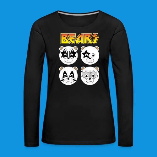 Kiss Bears square.png - Women's Premium Longsleeve Shirt