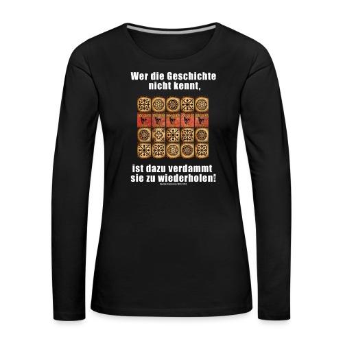 71_Geschichte_Lernen - Frauen Premium Langarmshirt