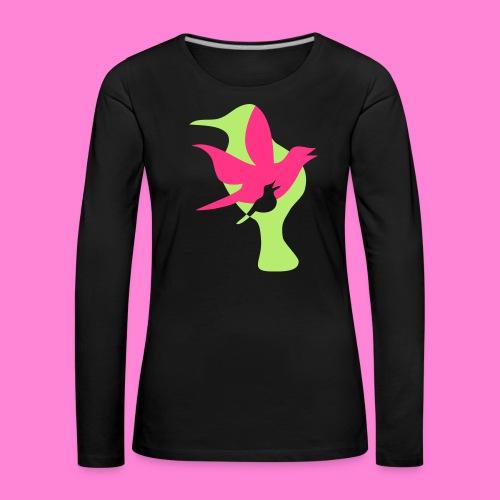 birds - Vrouwen Premium shirt met lange mouwen