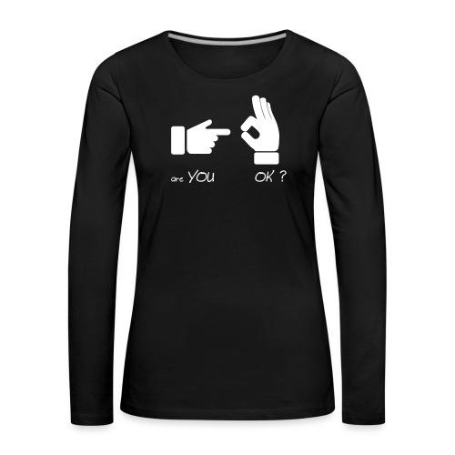 êtes-vous d'accord? (Fun Sex) - T-shirt manches longues Premium Femme