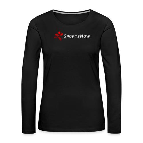 SportsNow-Logo mit weisser Schrift - Frauen Premium Langarmshirt