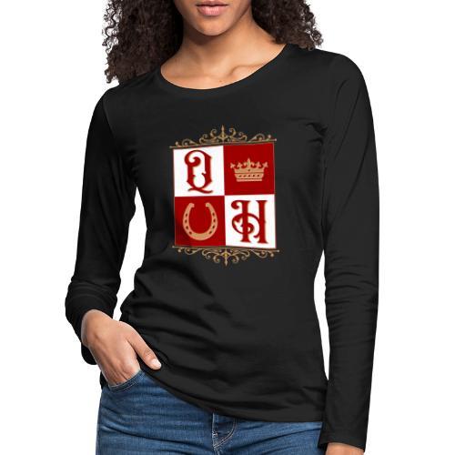 Quater Horse Ornament Pferd Royal König Geschenk - Frauen Premium Langarmshirt