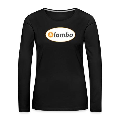 Lambo - option 1 - Women's Premium Longsleeve Shirt