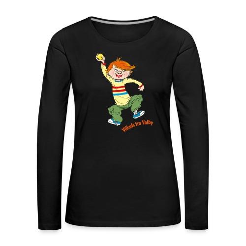 Villads fra Valby - Dame premium T-shirt med lange ærmer