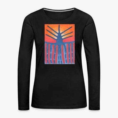 drzewo prehistoryczne 1 - Koszulka damska Premium z długim rękawem