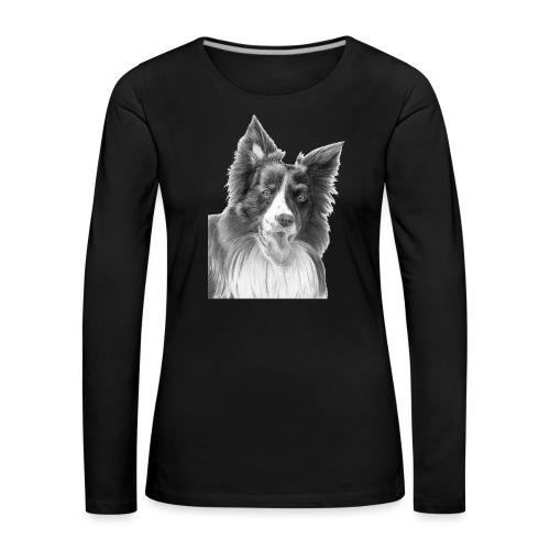 border collie 3 - Dame premium T-shirt med lange ærmer
