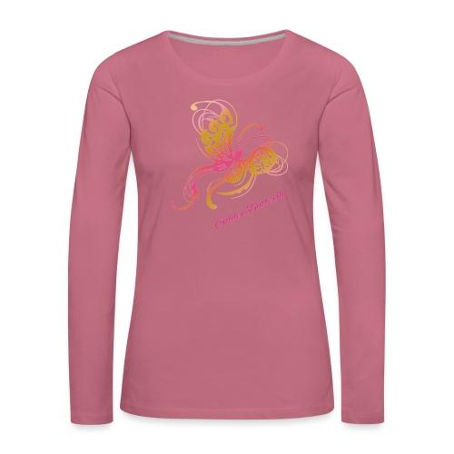 Golden butterfly - Naisten premium pitkähihainen t-paita