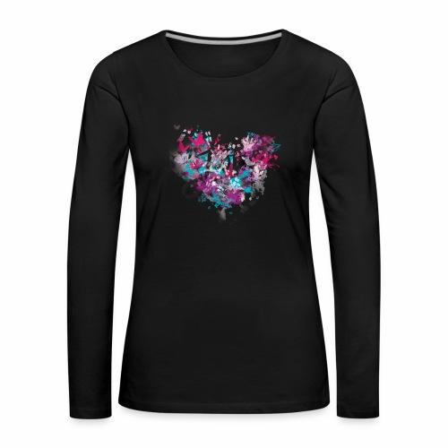 Love with Heart - Women's Premium Longsleeve Shirt