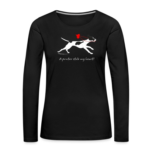 English pointer black - Women's Premium Longsleeve Shirt