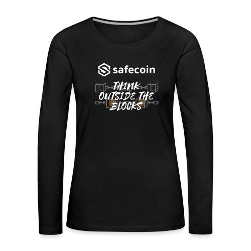 Safecoin Think Outside the Blocks (white) - Women's Premium Longsleeve Shirt