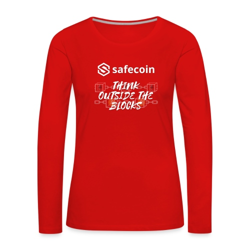 Safecoin Think Outside the Blocks (white) - Women's Premium Longsleeve Shirt
