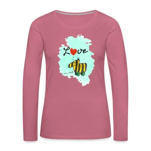 Janosch Verliebte Tigerente Herz Love - Frauen Premium Langarmshirt