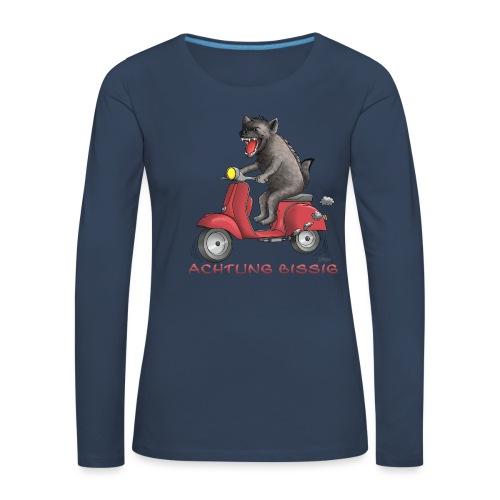Hyäne - Achtung bissig - Frauen Premium Langarmshirt