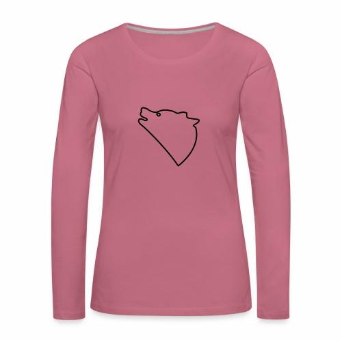 Wolf baul logo - Vrouwen Premium shirt met lange mouwen