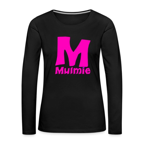 Mmulmie pink png - Vrouwen Premium shirt met lange mouwen