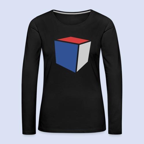Cube Minimaliste - T-shirt manches longues Premium Femme