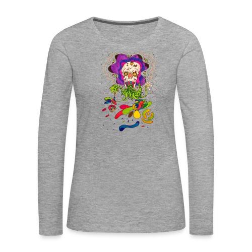 doskalle - Långärmad premium-T-shirt dam