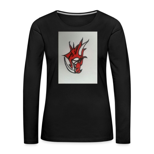 drago - Maglietta Premium a manica lunga da donna