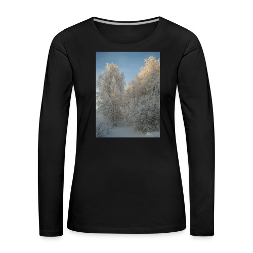 Talviset puut - Naisten premium pitkähihainen t-paita