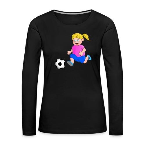 Fußball Mädchen - Frauen Premium Langarmshirt