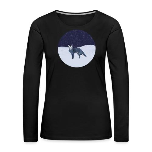 Blue fox - Naisten premium pitkähihainen t-paita