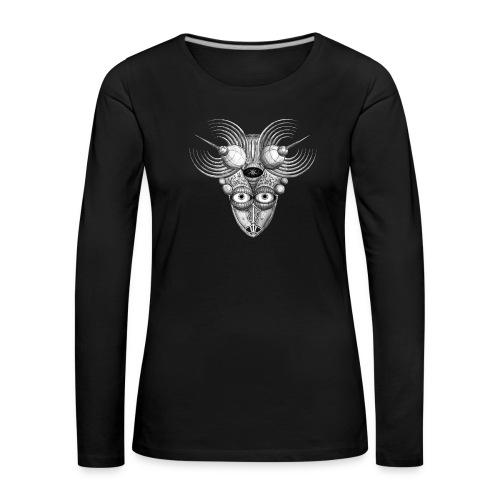 Androidenmaske 'Telepath' - Frauen Premium Langarmshirt