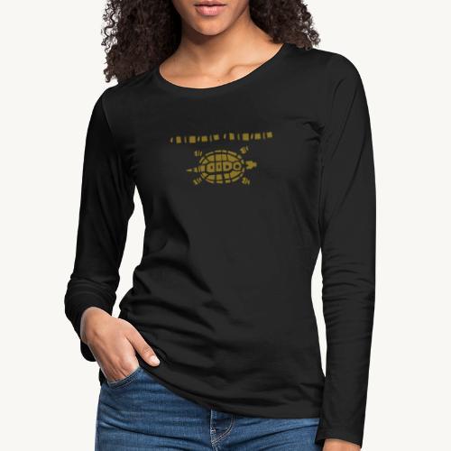 Stein - Schere - Papier Schildkröte - Frauen Premium Langarmshirt