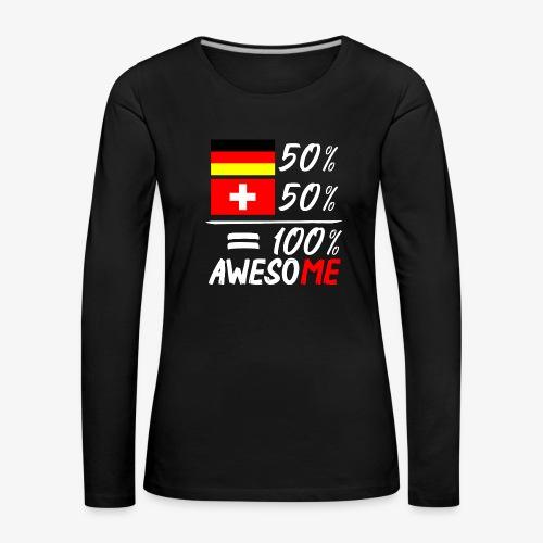 50% Deutsch 50% Schweiz - Frauen Premium Langarmshirt