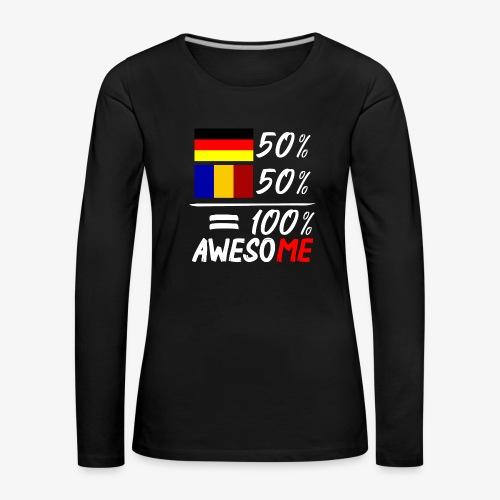 50% Deutsch 50% Rumänisch - Frauen Premium Langarmshirt