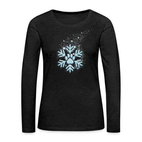 Vorschau: dog paw snowflake - Frauen Premium Langarmshirt