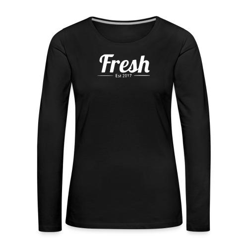 white logo - Women's Premium Longsleeve Shirt