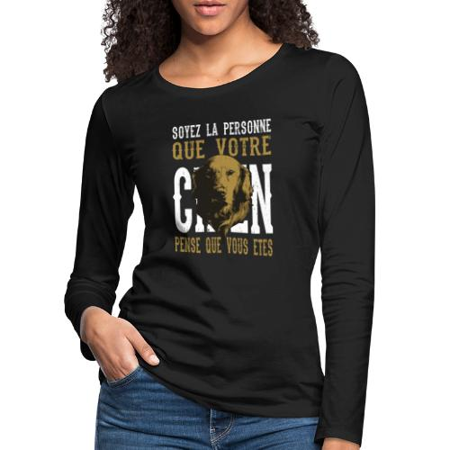Un amour de chien - T-shirt manches longues Premium Femme