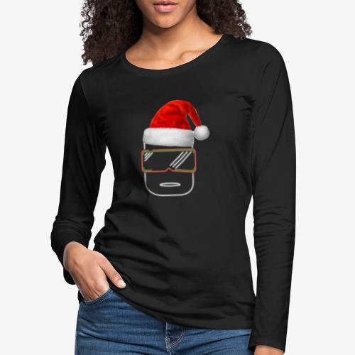 Die Zock Stube - Robot-Head Christmas - Frauen Premium Langarmshirt
