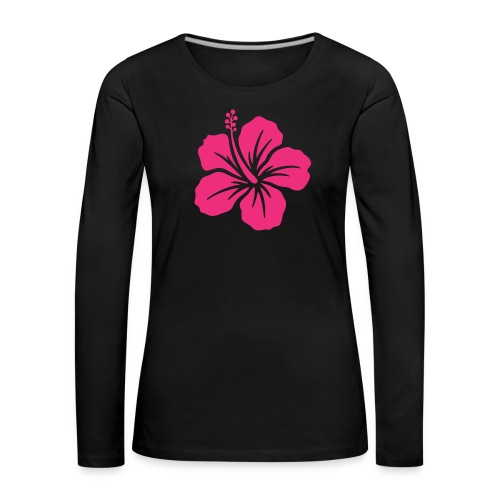 Camisetas, blusas, forros celulares de flor rosada - Camiseta de manga larga premium mujer