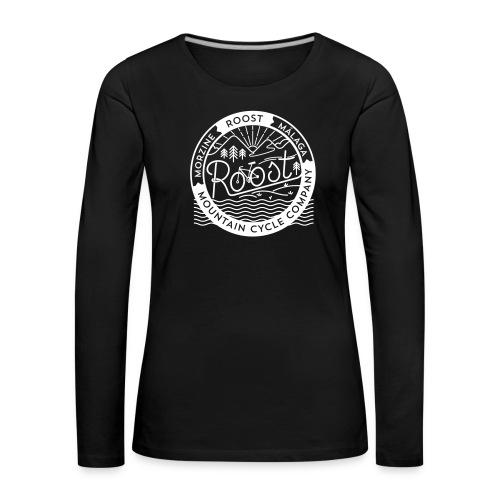 roost badge black no dots - Women's Premium Longsleeve Shirt